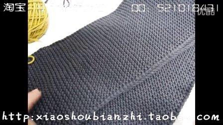 小手编织梦想-不卷边平针基础起针教程毛线围巾围脖起针编织教程