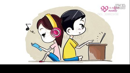 唯美浪漫手绘漫画q版婚礼动画