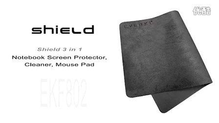 Shield 三合一笔记本电脑屏幕保护膜、清洁布、鼠标垫