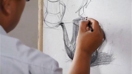 【素描教程】 素描静物,素描教学,入门----不锈钢和透明物体的画法(一