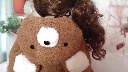 熊可爱熊绒绒线马甲 26视频