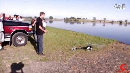 超赞!水上直升机3D特技暴力飞行表演 疯狂的蜻蜓【高清】