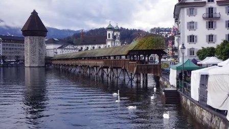 瑞士風光 美麗的琉森 瑞士旅游 歐洲旅游  陳亨利視頻