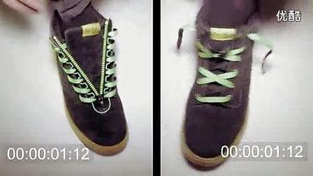exo系鞋带方法图解步骤