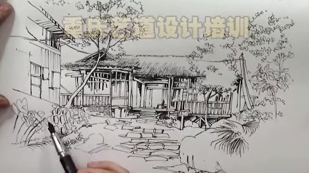 水彩 手绘 铅笔
