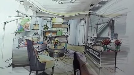 室内手绘 马克笔手绘教程