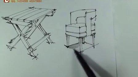 手绘示范 室内设计