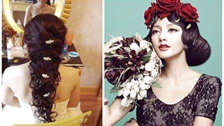 2014新娘盘发方法步骤 在线学发型扎法