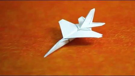 折纸飞机 纸飞机折法 折f16战斗机 折f16纸飞机