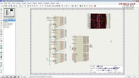 基于89c51单片机的点阵设计(protues)