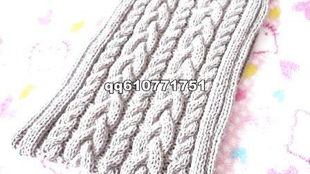 编织扭麻花围巾的织法男士女士简单围巾花样编织视频