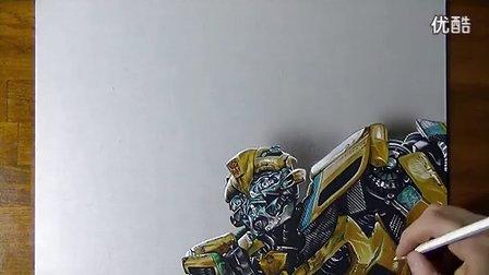 变形金刚手绘大黄蜂