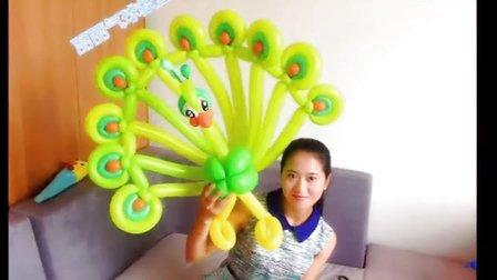 魔术气球孔雀动物视频教程