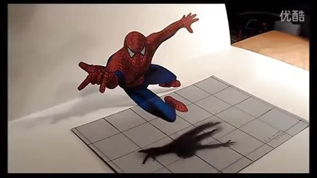 【elegant touch雅致格调】手绘3d蜘蛛侠 变形幻觉 奥妙艺术 绘画高手