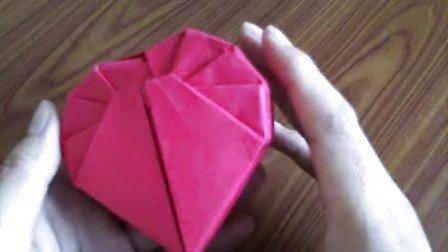 折纸心形纸盒爱心礼盒