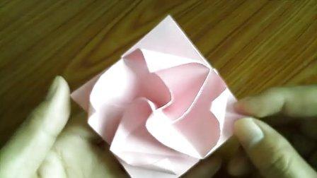 折纸玫瑰花大全视频教程 第七款旋转玫瑰花的折法 折纸王子