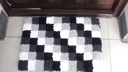 第67集 钩针编织毛线编织基础花样 温暖你心毛线店 门垫坐垫手工方法