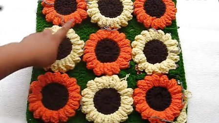 温暖你心毛线店 第66集 钩针编织向日葵花坐垫-单元花的连接 手工棒