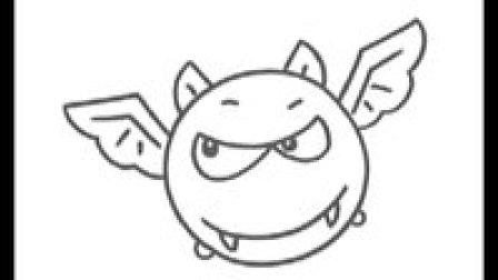 蝙蝠简笔画教程