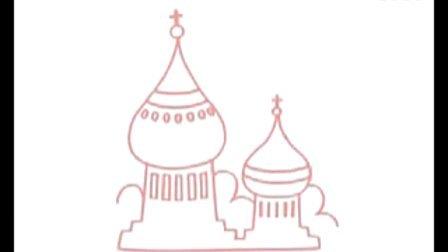城堡简笔画教程图解