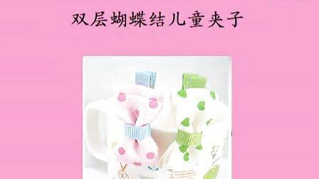 手工diy发夹制作 双层蝴蝶结儿童夹子发饰