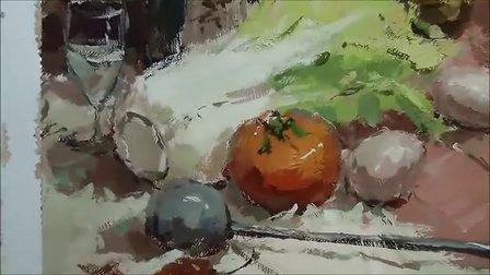 【色彩客】杭州色彩默写示范--龚永光 杭州画室色彩教学视频 中国美院色彩 校考色彩高分卷示范