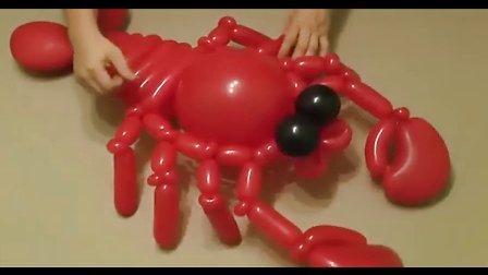 魔术气球教学龙虾-阿乐气球培训资料库d28