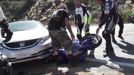 【穆赫兰压弯车手】车祸视频图片
