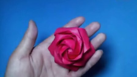 折纸王子教你折五瓣玫瑰花(下) 密码到折纸王子博客查找