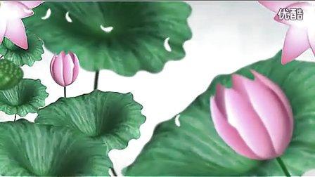木子丛中笑 中国风 水墨荷花 led高清动态背景素材 vj素材_标清