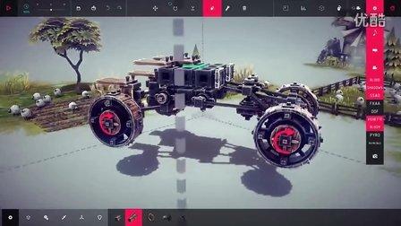 Besiege(围攻)狂怒的小车(2)(4轮v小车悬挂)-游视频油画大芬图片