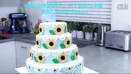 冰雪奇缘翻糖蛋糕