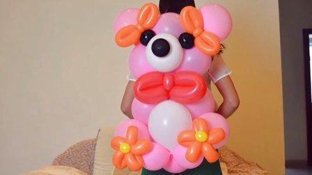 魔术气球熊尾巴球大熊魔法气球熊大针尾球熊猫链接气球大熊丽丽气球
