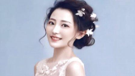 中欧式的新娘盘发编发发型