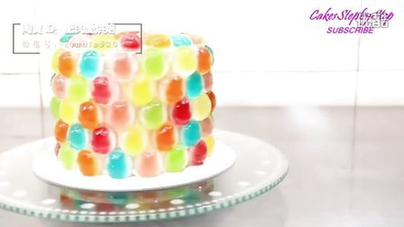【微博@肥肉ai烘焙】彩虹糖蛋糕  创意蛋糕 生日蛋糕 韩式裱花