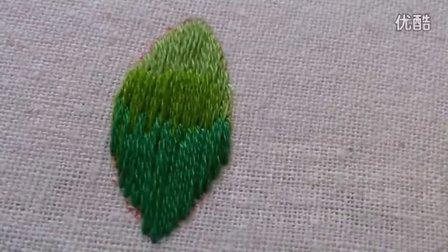 长短针——欧式刺绣基础针法教程