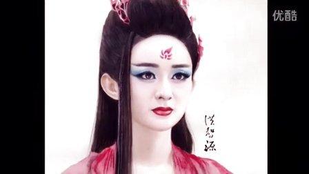 彩色铅笔手绘花千骨妖神妆视频