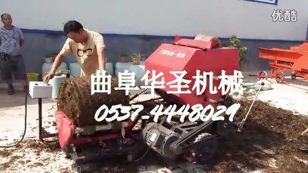 广西牛羊饲草皇竹草青贮打捆机全自动青贮打包机视频