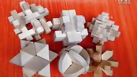 鲁班锁孔明锁六件套解法八角球鲁班球笼中取宝球米字