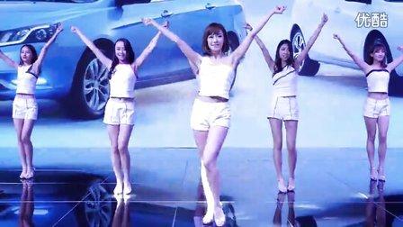 2015广州车展 吉利展台Shake it韩国一大波美女超短裙热舞