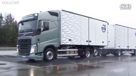 功夫了得 沃尔沃重型卡车穿桩特技驾驶