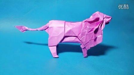 【折前先看】折纸王子教你折神谷哲史的狮子 最后完成效果展示 注意
