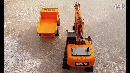 冰上赛跑比赛 挖掘机装车 挖掘机视频表演