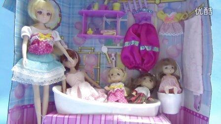 亲子游戏 芭比 迪士尼 芭比娃娃公主系列 洗澡换衣套装亲子过家家玩具图片
