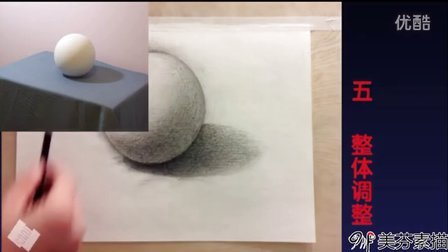 零基础自学素描培训基础教程 素描几何体圆球体的画法步骤详细介绍 图片