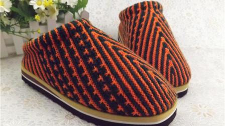 【手工织品视频教学】女款手工毛线鞋毛线拖鞋毛线棉鞋海绵鞋编织视频
