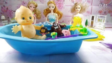 芭比娃娃给宝宝洗澡澡 22视频图片