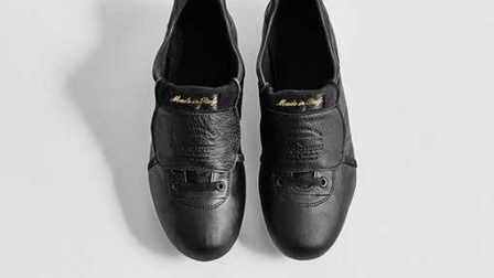 【新鞋速递】复古大鞋舌 Pantofola d'Oro Lazzarini Tongue黑/金配色