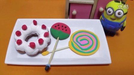 做手工diy超轻粘土甜品棒棒糖