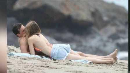 美国女星与男友沙滩摸脸亲热  现场画面曝光